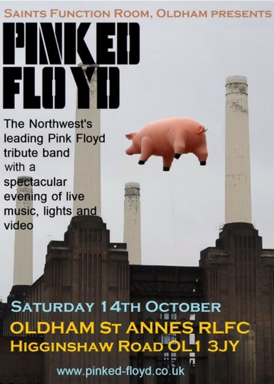 Pinked Floyd at Saints Function Room 13.10.2017