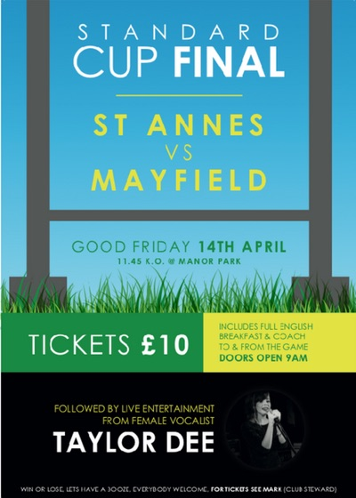 Saint Annes VS Mayfield - Saints Function Room 14.04.2017